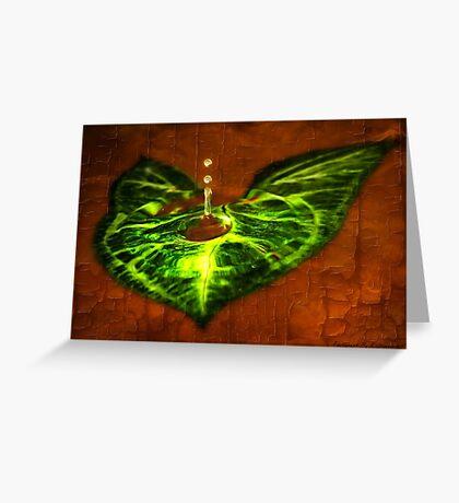 Leaf Droplet 01 Greeting Card