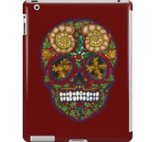 Winter skull holly king, red iPad Case/Skin