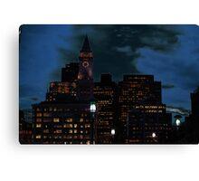 Boston Emphasised Canvas Print