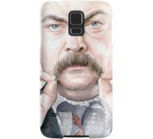 Ron Swanson Portrait Samsung Galaxy Case/Skin