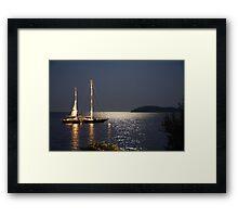 Full Moon @ Skiathos Island Framed Print