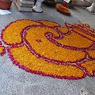Rangoli for Diwali - Lord Ganesh by Lydia Cafarella
