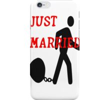 Just Married iPhone Case/Skin