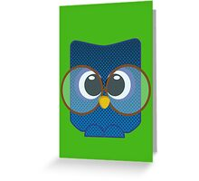 Nerd Owl Greeting Card
