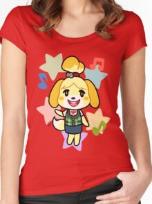 Isabelle of Animal Crossing Women's Fitted Scoop T-Shirt
