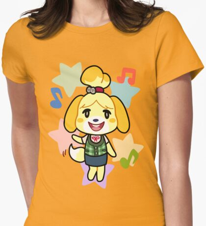 Isabelle of Animal Crossing Womens Fitted T-Shirt