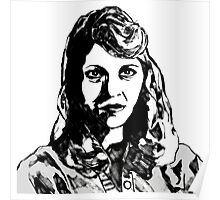 Sylvia Plath Digital Art Design Poster