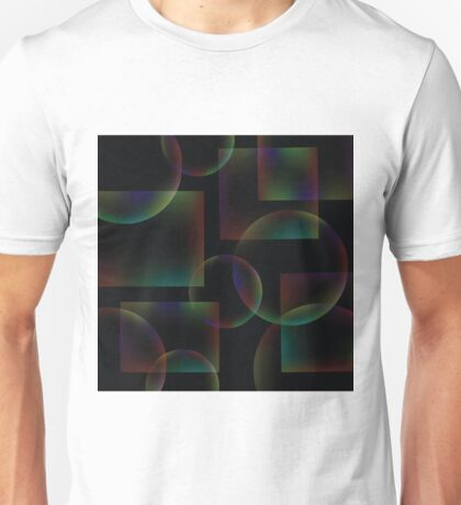 black abstract background Unisex T-Shirt