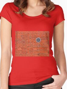Red bricks wall Women's Fitted Scoop T-Shirt
