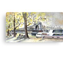 The Danube In Budapest 02 Canvas Print