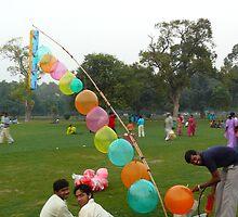 Baloon Sellers at India Gate by Lydia Cafarella