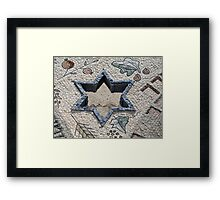 Star of David  in mosaic - Judaism Framed Print