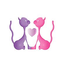 Love Kitties Photographic Print