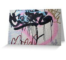 Graffiti on a wall Greeting Card