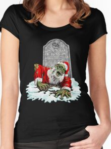 Zombie Christmas Horror Women's Fitted Scoop T-Shirt