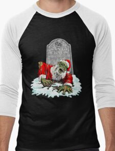 Zombie Christmas Horror Men's Baseball ¾ T-Shirt