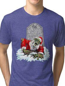 Zombie Christmas Horror Tri-blend T-Shirt