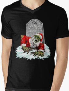 Zombie Christmas Horror Mens V-Neck T-Shirt