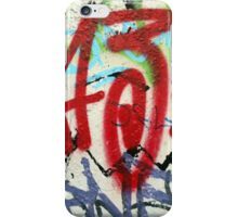 Graffiti on a white wall iPhone Case/Skin