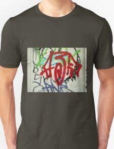 Graffiti on a white wall Unisex T-Shirt