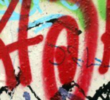 Graffiti on a white wall Sticker