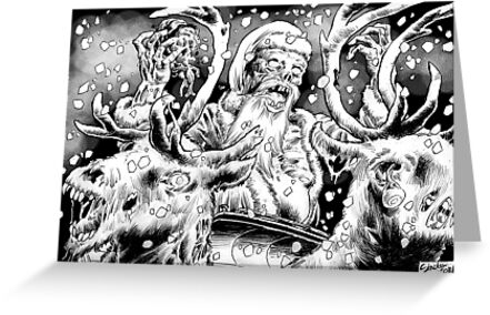 Zombie Santa by sinxdesigns