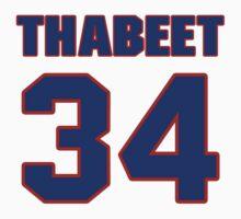 Basketball player Hasheem Thabeet jersey 34 by imsport