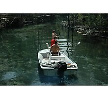 Bow Fishing on the Spring Run Photographic Print