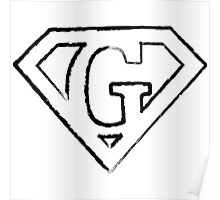 G letter in Superman style Poster