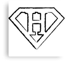 H letter in Superman style Canvas Print