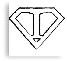 I letter in Superman style Canvas Print