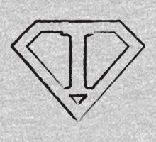 I letter in Superman style Kids Clothes