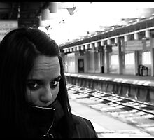 Waiting for trains by Carl Banks