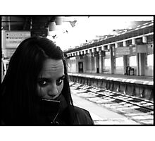 Waiting for trains Photographic Print