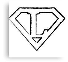 L letter in Superman style Canvas Print