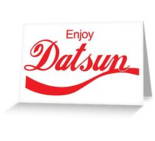 Enjoy Datsun JDM Greeting Card