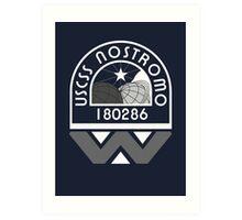 USCSS Nostromo Crew Logo Art Print
