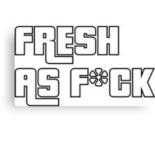 Fresh As F*ck GTA Style Canvas Print