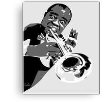 Blues trumpetist Canvas Print