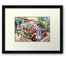The Klimt Girl In A Ruin Bar In Budapest Framed Print