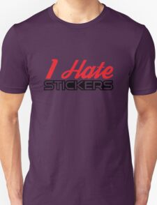 I Hate Stickers Red/Black T-Shirt