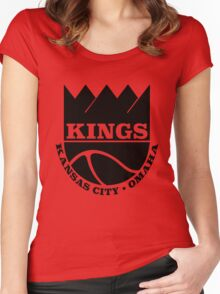 Kansas City Kings Omaha Women's Fitted Scoop T-Shirt