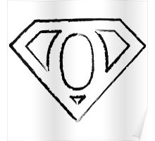 O letter in Superman style Poster