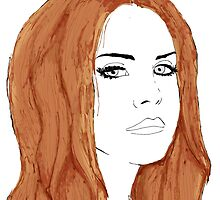 Lana Del Rey Digital Design by Sarah Zinkann