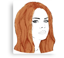 Lana Del Rey Digital Design Canvas Print