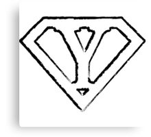 Y letter in Superman style Canvas Print