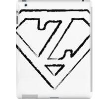 Z letter in Superman style iPad Case/Skin