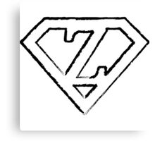 Z letter in Superman style Canvas Print