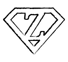 Z letter in Superman style Photographic Print