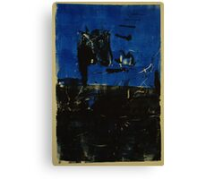 Blue and Black Monotype No.2 Canvas Print